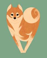 Geometric dogs - Shiba Inu by Kelgrid