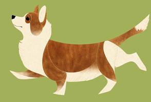 Geometric dogs - Welsh Corgi Cardigan by Kelgrid