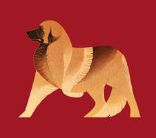 Geometric dogs - Leonberger by Kelgrid