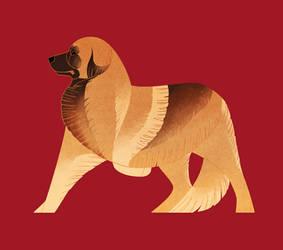 Geometric dogs - Leonberger by Kelgrid
