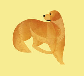 Geometric dogs - Golden Retriever by Kelgrid