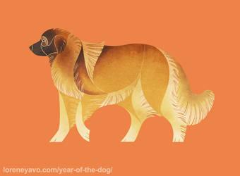 Year of the Dog - Estrela Mountain Dog by Kelgrid