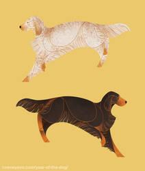 Year of the Dog - English/Gordon Setter by Kelgrid
