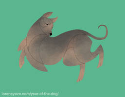 Year of the Dog - Peruvian Hairless Dog by Kelgrid