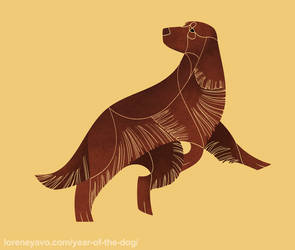 Year of the Dog - Field Spaniel by Kelgrid