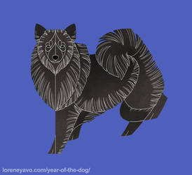 Year of the Dog - German Spitz by Kelgrid