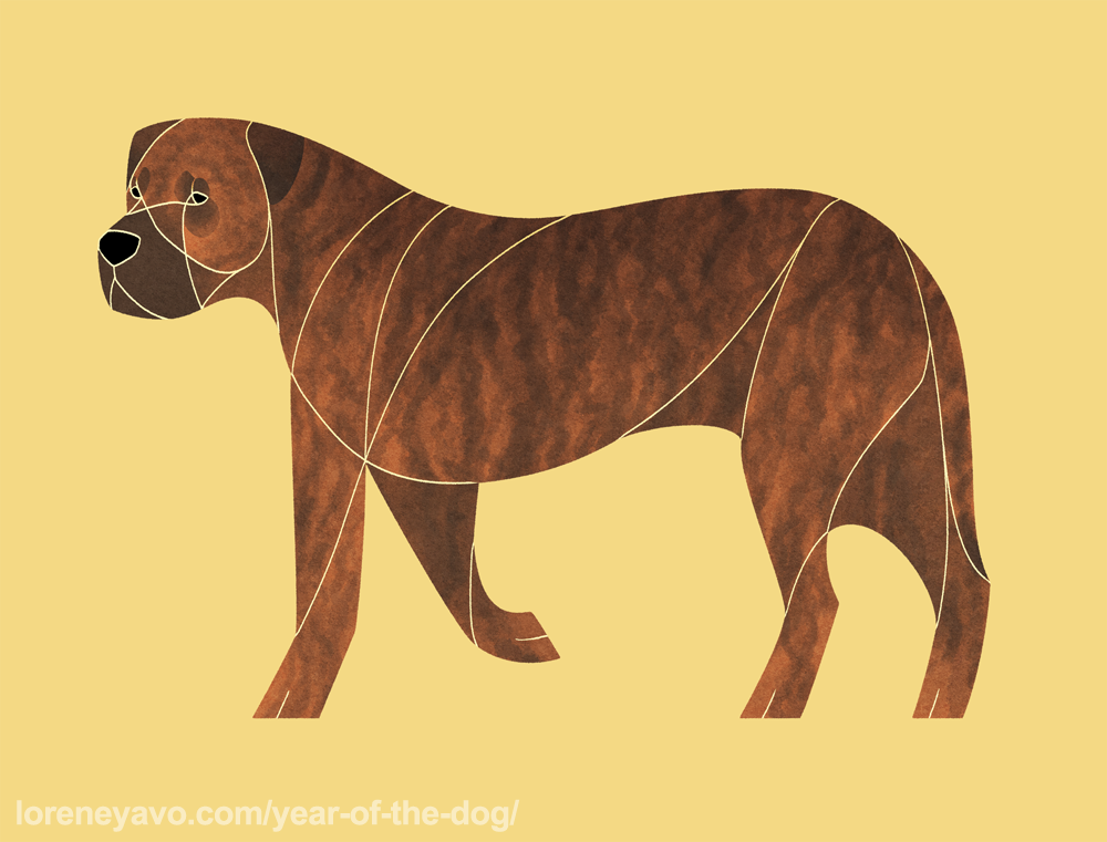 Year of the Dog - Presa Canario by Kelgrid