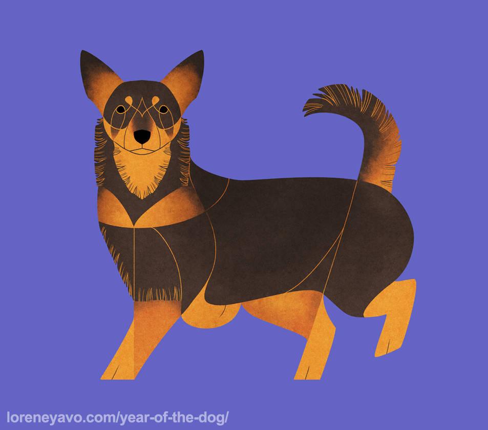 Year of the Dog - Lancashire Heeler by Kelgrid
