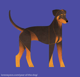 Year of the Dog - Miniature and German Pinscher by Kelgrid