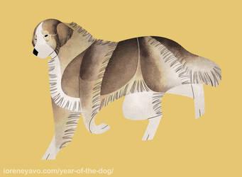 Year of the Dog - Carpathian Shepherd Dog by Kelgrid