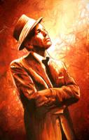 Frank Sinatra Portrait by OceanClark