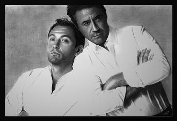 Jude Law - Robert Downey Jr by Electricgod