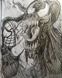 inktober day 26 stretch part 1 venom by DorkaboutArt