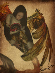 the mythical winged mermaid by SaNuS-x-
