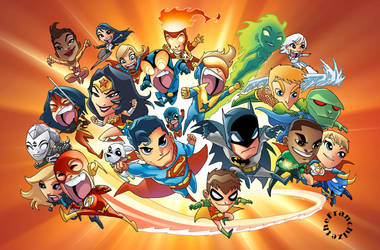 Justice League Mini Friends by theFranchize