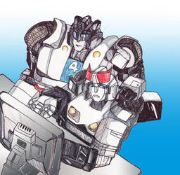 Jazz and Prowl XD by BumblebeeSam