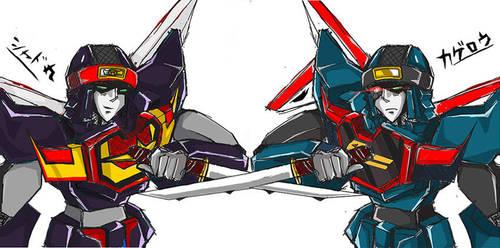 Brave Police-Ninja Twins by BumblebeeSam