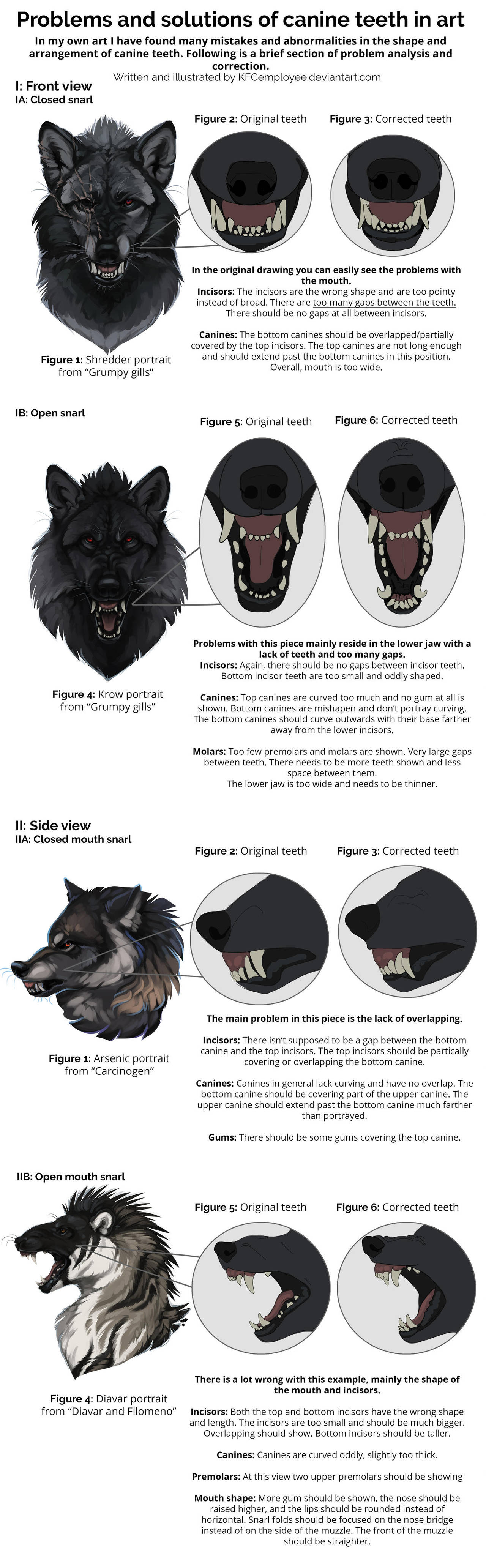 Fixing Canine Teeth And Common Anatomy Errors By Chickenbusiness On