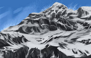 Mountain speedpaint Day 1, #3 by Chickenbusiness