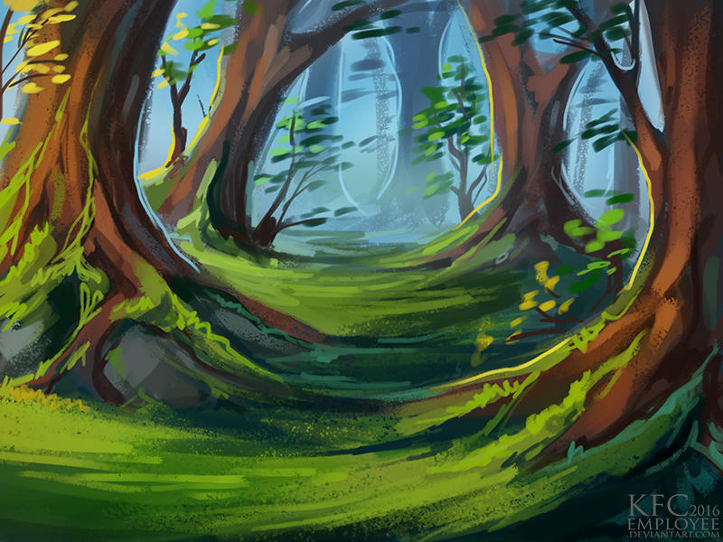 Mossy forest by Chickenbusiness