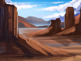 Desert shadows by Chickenbusiness