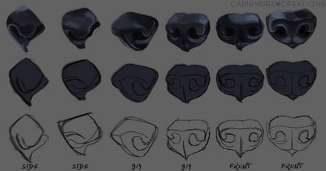 Wolf nose study by Chickenbusiness