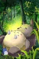 My Neighbor Totoro by Mireielle