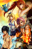 Fairy Tail Poster by Mireielle
