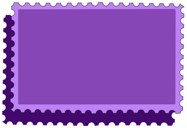 Purple Stamp Base by WDWParksGal