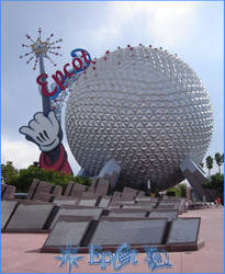 Epcot Entrance Memorials by WDWParksGal
