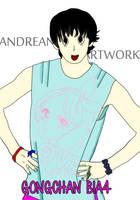 gongchan b1a4 fan art by WizkyandreanArtwork