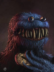 Cookie Monster! by XxADRxX