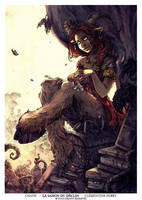 Satyre with a cat (La Saison du Declin ) by Morgan-chane