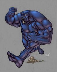 Blue Man Running: WYA by Nubry