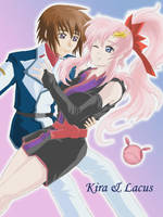 GSD Kira + Lacus 'Colored' by shanku