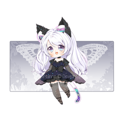 [RAFFLE CLOSED] Adopt #12: Midnight Butterfly by Airimiu