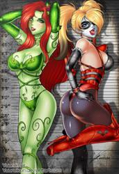 Harley Quinn and Poison Ivy by yuureikun