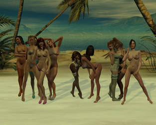 girls on the beach  by formulka