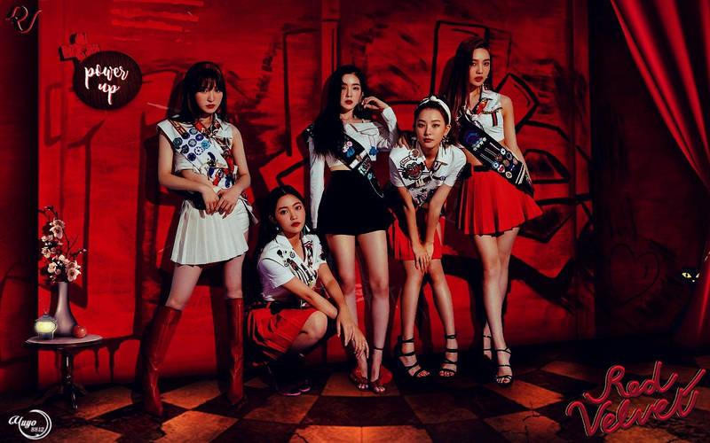 Red Velvet Power Up Wallpaper By Yuyo8812 On Deviantart