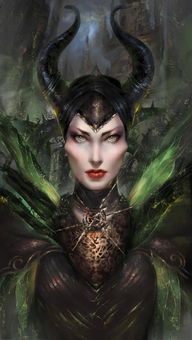 Maleficent by orangesekaii