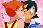 Pokemon ::Ash and Misty:: Surprise kiss! by Sunney90