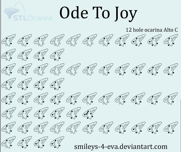Ode To Joy 12 Hole Ocarina Tablature By Smileys 4 Eva
