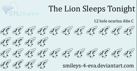 The Lion Sleeps Tonight 12 Hole Ocarina Tablature By Smileys 4 Eva