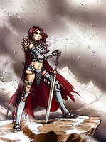 Red Sonja (Different costume) by k1lleet