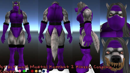 1st act wolf MK Cosplay concept by Aelamas