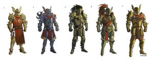Plate Armor Roughs by Eyecager