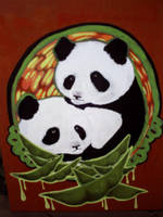 We are two pandas in a pea pod by COLORWULLER