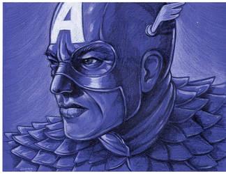 Captain America portrait by jlonnett