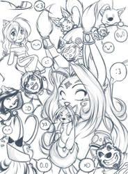 Friends v2 (Sketch) 3-29-15 by DamnEvilDog
