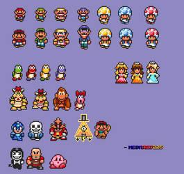 Map Mario Sprites (SMAS - SMB3) by MegaRed225